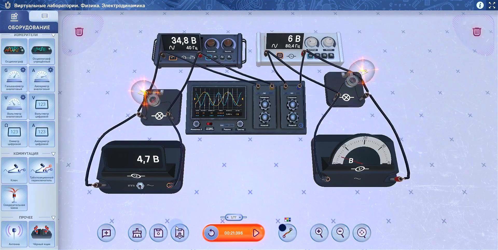 Виртуальные лаборатории. Электродинамика.